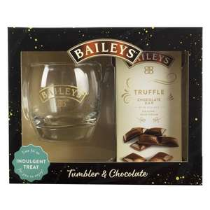 Baileys Tumbler & Chocolate Gift Set , Now £3.75 (Minimum Basket / Delivery Charge Applies) @ Morrisons