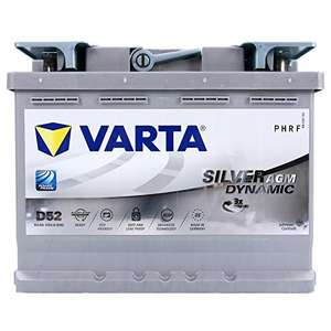 VARTA Silver Dynamic AGM D52 12V 60Ah 680A Stop/Start Car Battery - £81.56 delivered (UK Mainland) Sold by Amazon EU @ Amazon