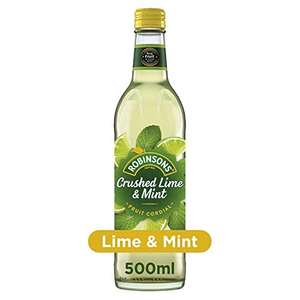 Robinsons Fruit Cordial, Crushed Lime and Mint, and other varieties 8 x 500ml - £16.00 (+£4.49 Non-Prime / S&S £11.20) @ Amazon
