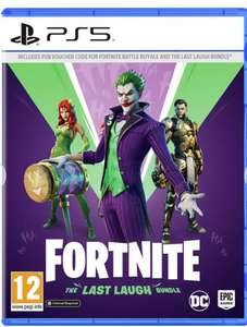 Fortnite last laugh bundle for PS5, PS4, Switch, Xbox at Argos £19.99 (£3.95 delivery)