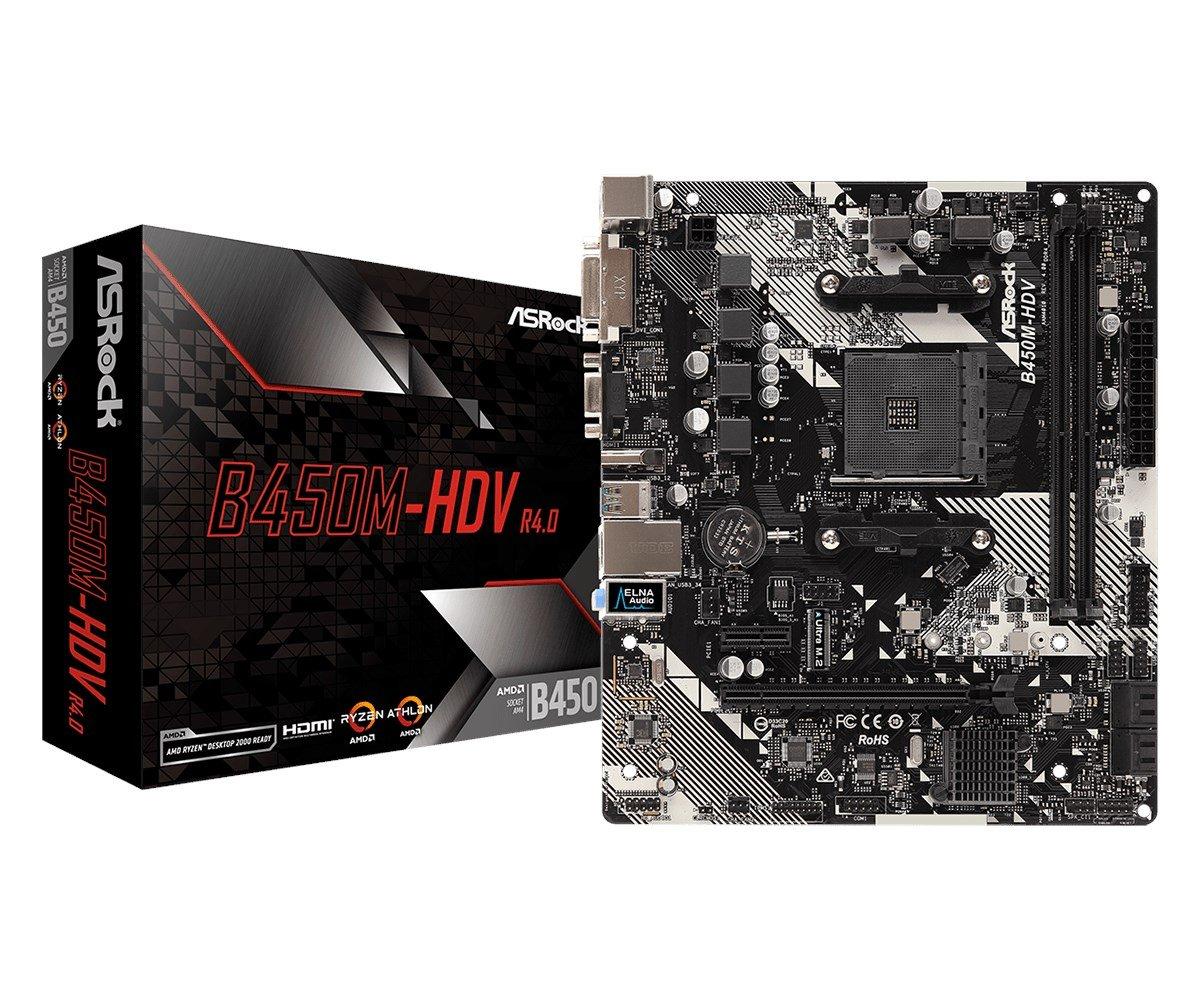 ASRock B450M-HDV R4.0 AMD Socket AM4 Motherboard £52.15 at CCL Online