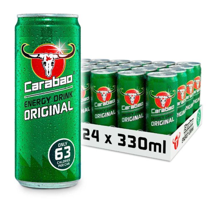 Carabao Energy drink 24 cans + Free shipping £9.99 at Carabao Energy