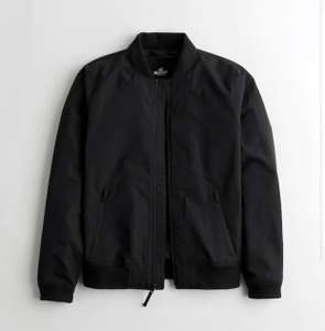 Lightweight Bomber Jacket In black (XS - XL) £23.60 & Free Delivery via App @ Hollister