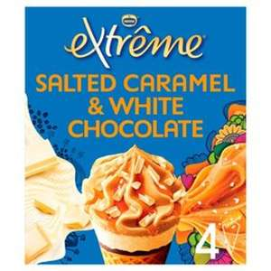 Nestle Extreme Salted Caramel & White Chocolate Cones - 4 x 120ml (480ml) £2 (+ Delivery Charges / Minimum Spend Applies) @ Morrisons