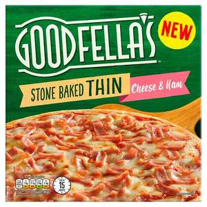 Goodfellas Ham and Cheese/ Margherita/ Pepperoni £1.25 (+ Delivery Charges / Minimum Spend Applies) @ Sainsbury's