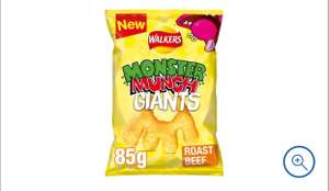 Walkers Giant Monster Munch Roast Beef / Pickled Onion - £1 Clubcard Price (+ Delivery Charges / Min Spend Applies) @ Tesco