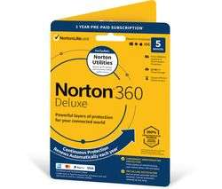 Norton 360 Deluxe (5 device - 1 Year Subscription) - £19.99 - Norton - Plus Potential 80% Cashback at TopCashBack
