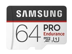 Samsung 64GB PRO Endurance MicroSDXC Memory Card with SD Adapter 100/30MB/s R/W (up to 26,280 hrs Lifespan) - £11.99 @ Base