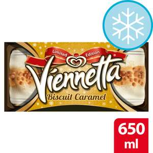 Vienetta Biscuit Caramel Ice Cream 650Ml £1 / Cornetto 6x90ml (All Varieties) £1.50 (Min Spend / Delivery Fee Apply / Clubcard) @ Tesco