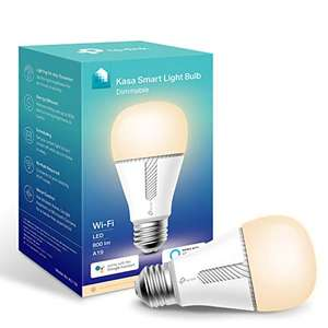 Kasa Smart Bulb by TP-Link, WiFi Smart Switch, E27/B22 - £9.74 (+£4.49 non prime) each at Amazon