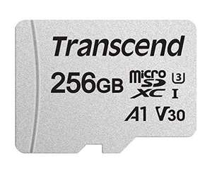 256GB - Transcend 300S V30 A1 UHS-I U3 Class 10 - 95/45MB/s R/W - Micro SD Card (SDXC) + Adapter Eco packaging - £23.70 Delivered @ Amazon