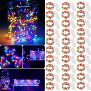 LED Fairy Micro String Lights Mini Battery Operated 30 Pack 20 LED Waterproof (Multicolor) £7.91 Sold by Qianhair & Fulfilled by Amazon