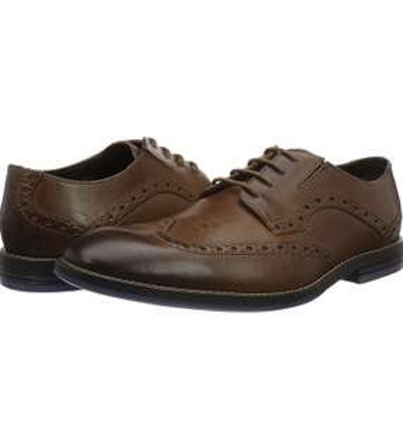 Clarks Men's Prangley Limit Leather Ortholite Brogues Size 10 - £17.02 prime / £21.51 nonprime at Amazon
