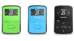 SanDisk Clip Jam 8 GB MP3 Player (3 colours) - £21.99 at Amazon