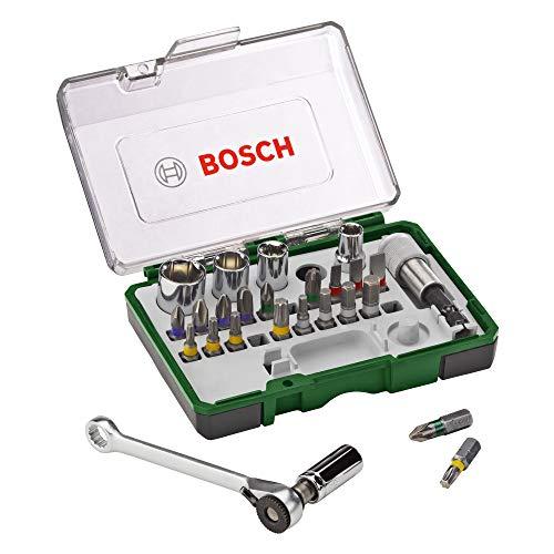Bosch 27-Piece Screwdriver Bit and Ratchet Set £12.99 Prime / £17.48 Non Prime @ Amazon