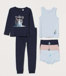 6-piece Frozen Pyjamas and underwear cotton jersey set £12 with Free Delivery with Membership (Free sign Up) From H&M