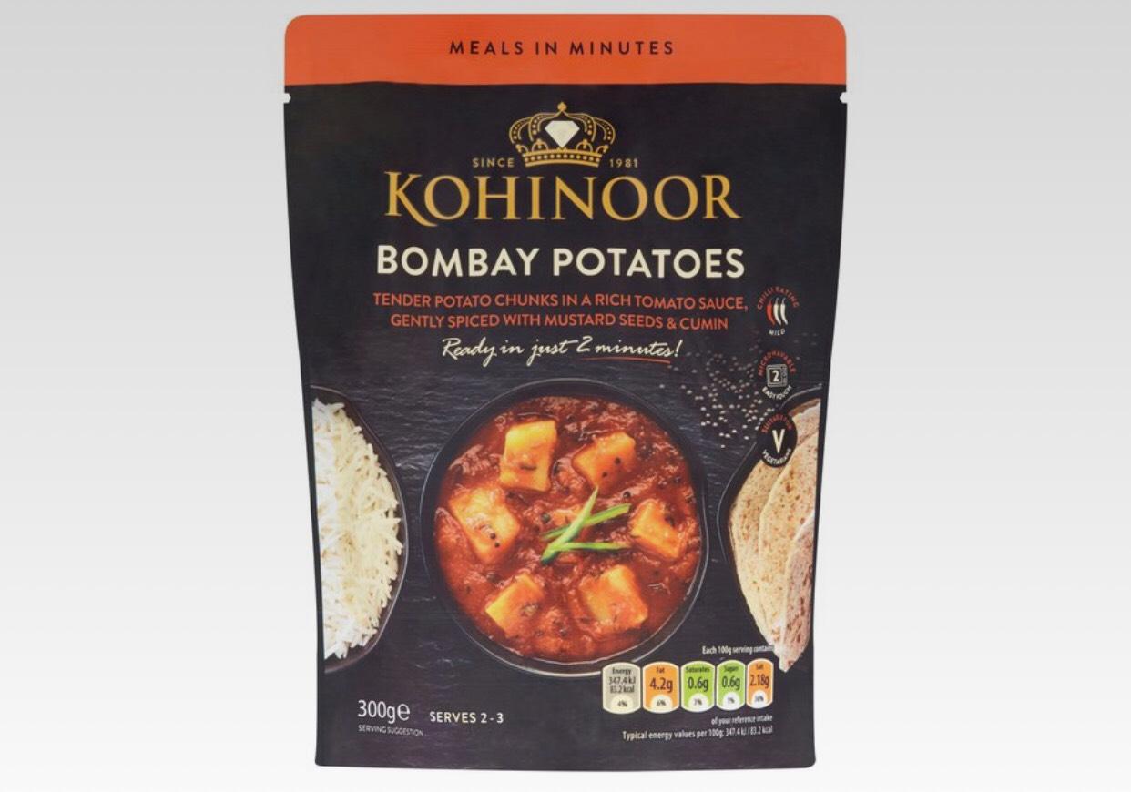Kohinoor Bombay Potatoes 300g 45p at Morrison's Sutton