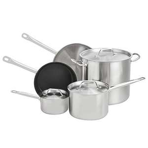 AmazonCommercial 8-Piece Stainless Steel Induction Ready Cookware Set £55.96 delivered at Amazon