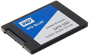 Western Digital WDS250G2B0A WD Blue 3D NAND Internal SSD 2.5 Inch SATA, 250 GB - Black £36.70 @ Amazon