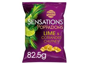 Walkers Sensations varieties favours 82.5g-150g £1 (+ Delivery Charge / Minimum Spend Applies) at Sainsbury's