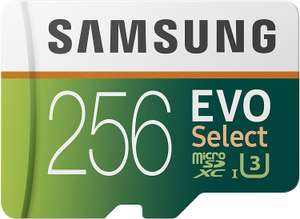Samsung EVO Select 256GB microSDXC UHS-I U3 100MB/s Full HD & 4K UHD Memory Card with SD Adapter (MB-ME256HA/EU) - £29.99 Delivered @ Amazon