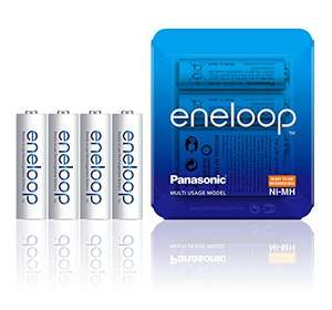Panasonic eneloop AA Rechargeable Ready-To-Use Ni-MH Batteries, Pack of 4 £8.64 (+£4.49 Non-Prime) (UK Mainland) Sold by Amazon EU @ Amazon