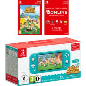Nintendo Switch Lite with Animal Crossing Horizons (Digital) and 3 Months Switch Online - Turquoise OR Coral £199 (UK Mainland) @ AO