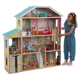 Large KidKraft 65252 Majestic Mansion Wooden Dolls house with lots of furniture and accessories £94.99 @ Amazon