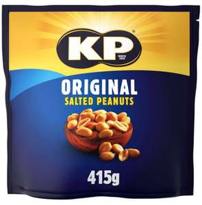415g KP Original Salted or 415g Dry Roasted Peanuts 99p in FarmFoods Llanelli