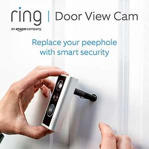 Ring Door View Cam Video doorbell that replaces your peephole 1080p HD video and Two-Way Talk £89 (UK Mainland) Sold by Amazon EU @ Amazon