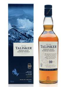 Talisker 10 Year Old Single Malt Scotch Whisky, 70 cl with Gift Box £30 @ Amazon