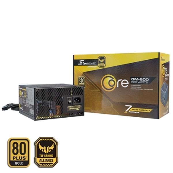 Seasonic Core GM 500W 120mm Sleeve Bearing Fan 80 PLUS Gold Semi Modular PSU , £57.59 with code at 365games