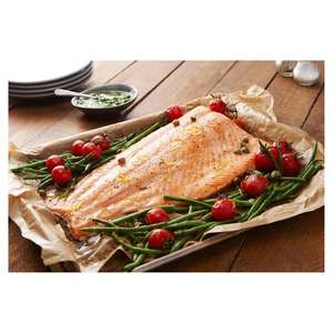 Salmon Side 1Kg £10 Clubcard Price (+ Delivery Charge / Minimum Spend Applies) @ Tesco