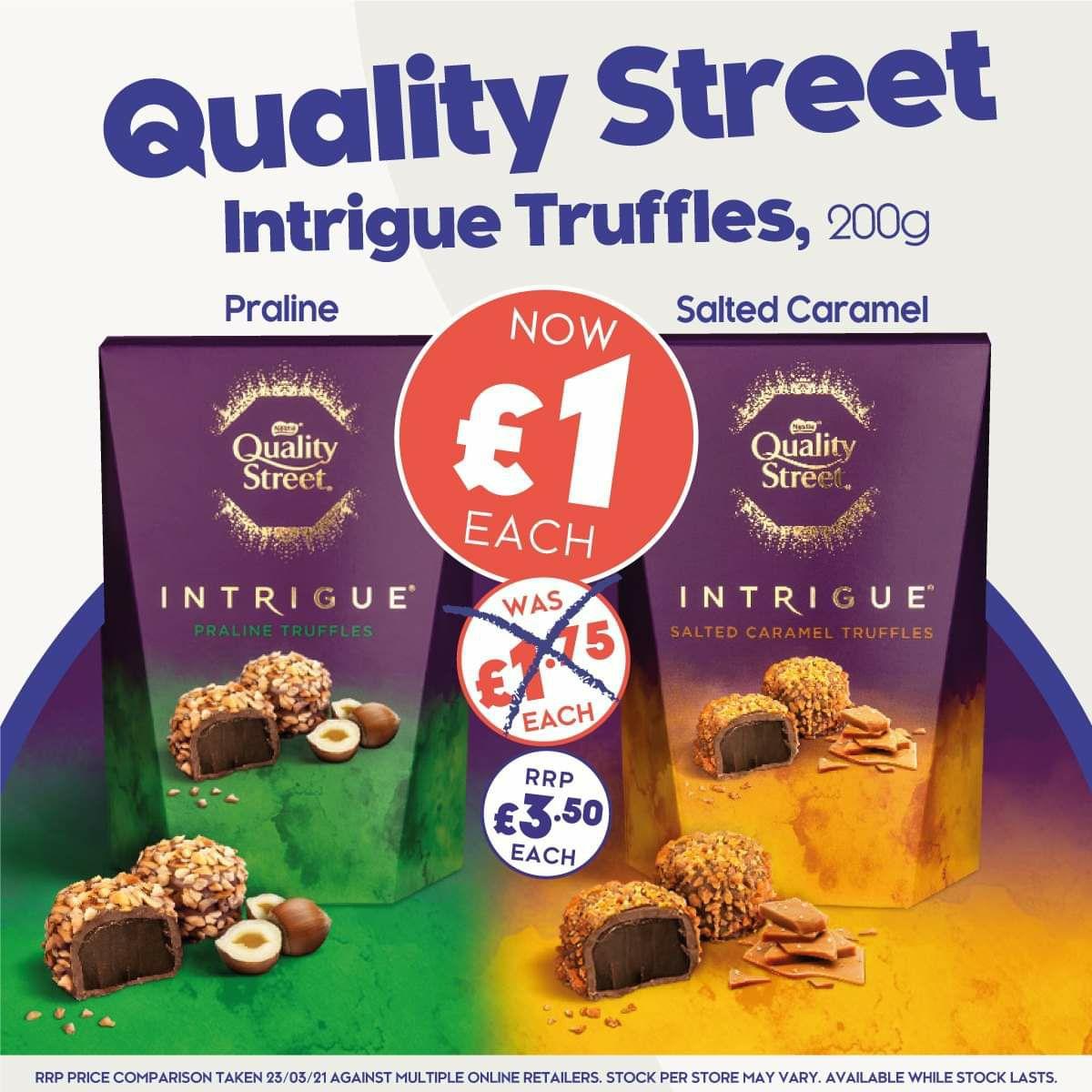 Quality Street Intrigue Truffles, 200g - £1 @ The Company Shop
