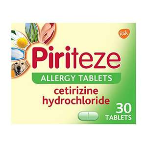 Piriteze Antihistamine Allergy Relief Tablets Pack of 30 £5.95 Prime (£10.44 Non prime) @ Amazon