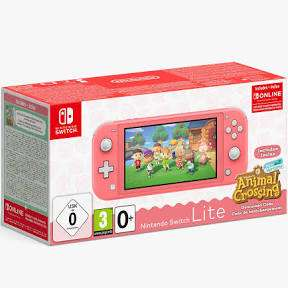 Nintendo Switch Lite Coral with Animal Crossing New Horizons – Retail Box Damage £169.99 @ MonsterShop