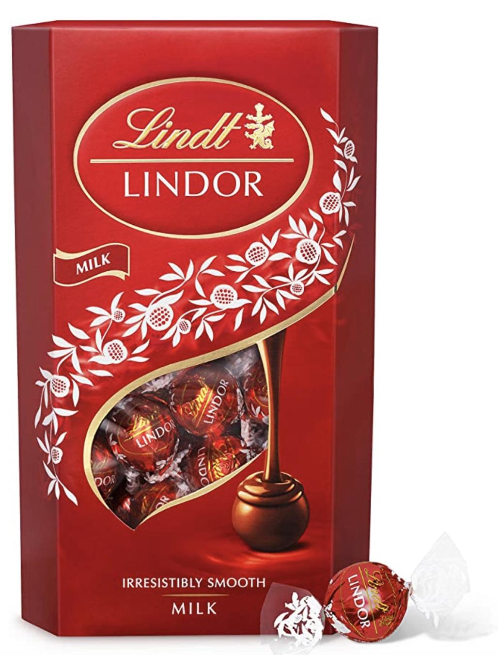 Lindt Lindor Milk Chocolate Truffles Box - approximately 48 Balls, 600g - £10 (+£4.49 Non-Prime / £9.50 S&S) @ Amazon