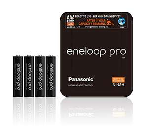 Panasonic eneloop pro, Ni-MH battery, AAA micro, 4-pack, incl. Storage case. 930 mAh, 500 charging cycles - £15.14 Delivered @ Amazon.de