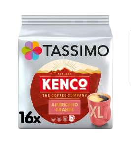 Tassimo Kenco Americano Grande Coffee Pods (Pack of 5, Total 80 pods, 80 servings) £17.01 prime / £21.50 nonPrime £15.31 with S&S at Amazon