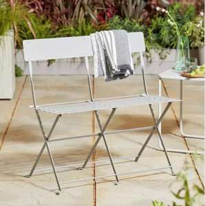 Eve Metal 2 Seater Garden Bench in Sage or Grey Now £25 + £3.95 Delivery From Argos