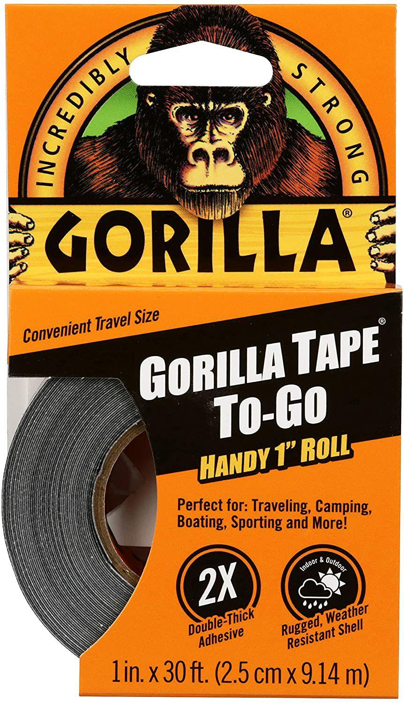 Gorilla Tape Mini Duct Tape To-Go Travel Size Black 25mm x 9m [Energy Class A] £2.75 at Amazon Prime / £7.24 Non Prime