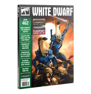 White Dwarf Magazine Issue 462 (March 2021) with 12 Warhammer Steam Games - £4.95 + £2.59 delivery @ Chaos Cards