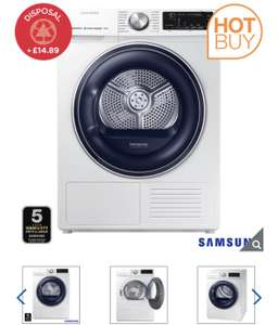Samsung DV80N62532W/EU, 8kg, HeatPump Tumble Dryer, A+++ Rating in White - £599.99 delivered @ Costco