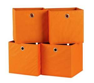 Habitat Set of 4 Squares Boxes - Orange - £10.95 Delivered @ Argos