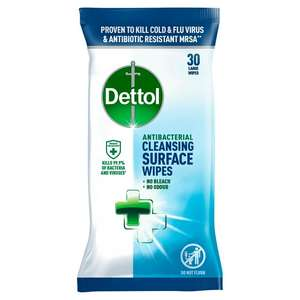 Dettol Antibacterial Cleansing Surface Wipes Large x30 - £1 (Minimum Basket / Delivery fee applies) at Sainsbury's