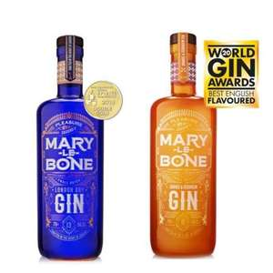 Mary le Bone Gin 70cl X2 for £35 (Free P&P over £40 / £5.95 delivery)