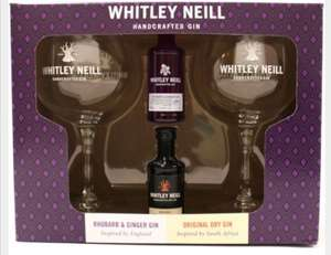 BOGOF 2 x Whitley Neill Rhubarb & Ginger And Original Gin With Two Copas Gift Pack for £14.99 (Free P&P over £40 / £5.95 delivery)