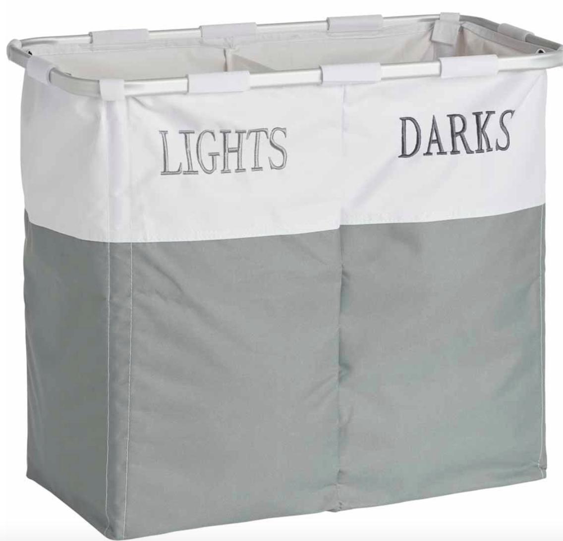 Wilko Lights Darks Laundry Hamper £10 (+£2 Delivery) @ Wilko