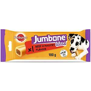 Pedigree Jumbone Large Dog Treats with Beef and Poultry Flavour (12 chews) for £12 (+£4.49 non-prime) @ Amazon