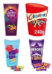 Quality Street 240g, Roses 290g, Celebrations 240g, Heroes 290g - £2 each (Clubcard, Min Spend / Delivery Fee Applies) @ Tesco
